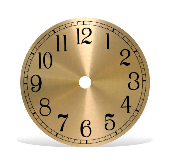 Round Metal Clock Dials
