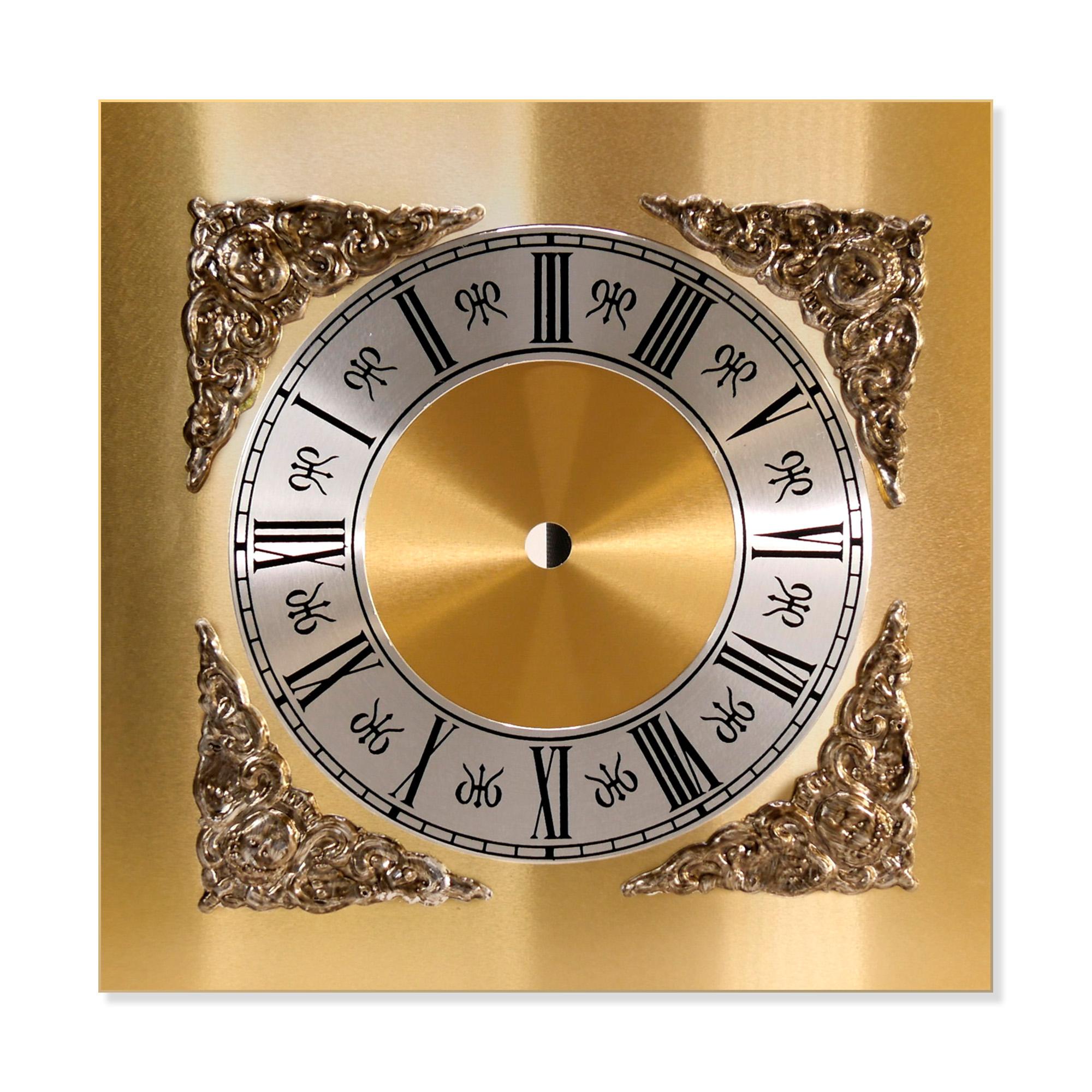 Square Metal Clock Dials